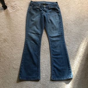 "Old Navy ""Flirt"" Blue Jeans, Bell Cut, sz 2 Short"